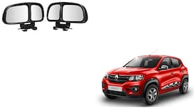 Skynex  Vehicle Car Blind Spot Mirrors Angle Rear Side View Black For Renault Kwid