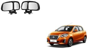 Skynex  Vehicle Car Blind Spot Mirrors Angle Rear Side View Black For Datsun Go