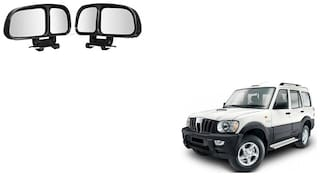 Skynex  Vehicle Car Blind Spot Mirrors Angle Rear Side View Black For Mahindra Scorpio