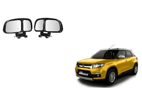 Skynex  Vehicle Car Blind Spot Mirrors Angle Rear Side View Black For Maruti Suzuki Vitara Brezza