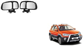 Skynex  Vehicle Car Blind Spot Mirrors Angle Rear Side View Black For Toyota Etios Cross