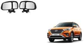 Skynex  Vehicle Car Blind Spot Mirrors Angle Rear Side View Black For Hyundai Creta