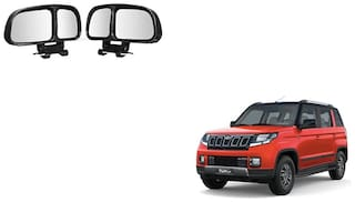 Skynex  Vehicle Car Blind Spot Mirrors Angle Rear Side View Black For Mahindra Tuv 300