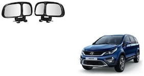 Skynex  Vehicle Car Blind Spot Mirrors Angle Rear Side View Black For Tata Hexa