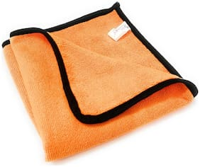 SOBBY Microfiber Cleaning Cloth for Cars;Bike;Home kitchen furniture computers ( 440 GSM - 45 cm x 45 cm - Light Orange -1 pc)