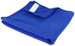 SOBBY Microfiber Car Cleaning Detailing & Polishing Cloth ( 300 GSM - 40cm x 40cm - Blue -1 pc)