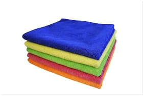 Softspun Microfiber Car Cleaning Detailing & Polishing Cloth - 40X40 cm - 5 pc'S