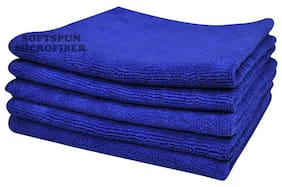 SOFTSPUN Microfiber Car Cleaning, Polishing & Detailing Towel Cloth - 50X50 cm - BLUE -5Pc