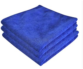 Softspun Microfiber Car Cleaning Detailing & Polishing Cloth - 40X40 cm - Blue - 3 pc'S