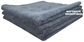 SOFTSPUN Microfiber Car Cleaning, Polishing & Detailing Towel Cloth - 40X40 cm - GREY -3Pc