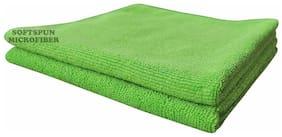 SOFTSPUN Microfiber Car Cleaning, Polishing & Detailing Towel Cloth - 50X50 cm - GREEN -2Pc