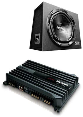 Sony XS-NW1202S Box Subwoofer (Black)Sony XM-N1004 in-Car Amplifier (Black)