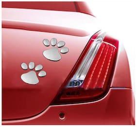 Soonai 3d Foot Mark Lucky Charm Car Sticker