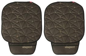 Space CoolPad Car Seat Cushion Black and Grey (Set of 2)