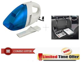 Special Combo Offer! Car Vacuum Cleaner With Car Meal Cup holder Tray - CRVCARTRY