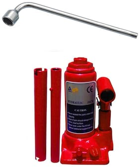Speedwav 5 Ton Hydraulic Bottle shaped Jack+19mm L-Shaped Spanner-Chevrolet Captiva Type 1 (2008-2013)