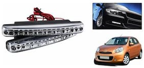 8 Led Daytime Running Lights-Nissan Micra