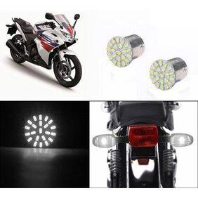 Bike Turn Indicator LED Smd Bulb Set Of 2 White-Honda Cbr 250R