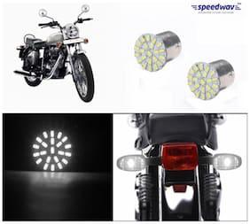 Bike Turn Indicator LED Smd Bulb Set Of 2 White-Royal Enfield Electra
