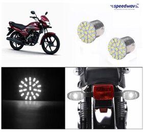 Bike Turn Indicator LED Smd Bulb Set Of 2 White-Honda Dream Yuga