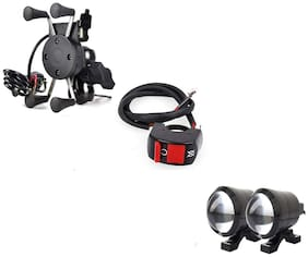 Spidy Moto Combo Of Switch, Spider Charger, U2 Light For Bikes
