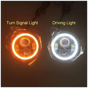 Spidy Moto H4 Bullet Projector Daymaker LED Light Headlight Royal Enfield Electra Twin Spark