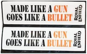 Spidy Moto Made Like Gun Goes Like A Bullet Vinyl Sticker Decal For Royal Enfield Bullet