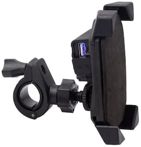 Spidy Moto Motorbike Cell Phone GPS Magnetic Mount Holder USB Charger Hero Glamour