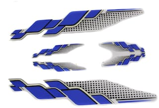 Spidy Moto Scooter Sticker Blue & Black Graphics Accessories for Universal All Scooty (Set of 5 pc)
