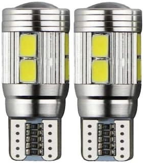 Spidy Moto White T10-10SMD Canbus LED with Projector LED Car Parking Eyelid Light Bulbs Mahindra KUV100