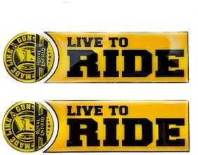 Spidy Moto Waterproof 3D MLG Live To Ride Vinyl Sticker Stem Sticker Universal For Bullet All Models