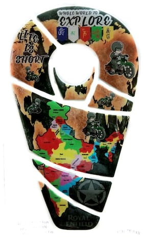 Spidy Moto Whole World To Explore Map Design Waterproof Tank Pad Protector Decal Sticker