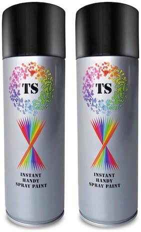 SPRAY ON Multipurpose Premium Quality Aerosol Spray Paint Can (Revon Black;440 ml)-Pack Of 2
