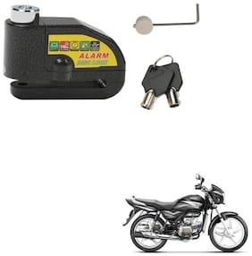 SRPHERE Motorcycle/Bike Brake Disc Security Alarm Lock Padlock, Black For Hero Splendor Pro
