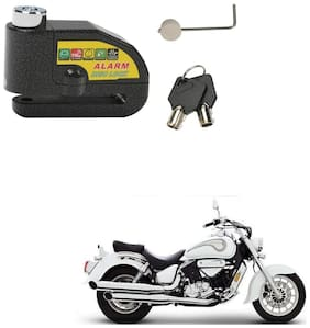 SRPHERE Motorcycle/Bike Brake Disc Security Alarm Lock Padlock, Black For DSK Hyosung  ST7
