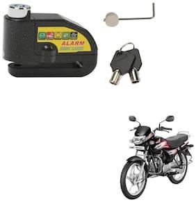 SRPHERE Motorcycle/Bike Brake Disc Security Alarm Lock Padlock, Black For Hero HF Deluxe