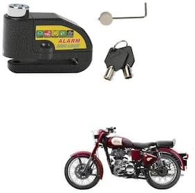 SRPHERE Motorcycle/Bike Brake Disc Security Alarm Lock Padlock, Black For Royal Enfield Classic 350