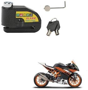 SRPHERE Motorcycle/Bike Brake Disc Security Alarm Lock Padlock, Black For KTM RC 390