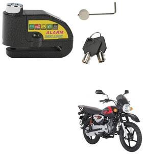 SRPHERE Motorcycle/Bike Brake Disc Security Alarm Lock Padlock, Black For Bajaj Boxer