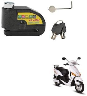 SRPHERE Motorcycle/Bike Brake Disc Security Alarm Lock Padlock, Black For Hero Electric Optima