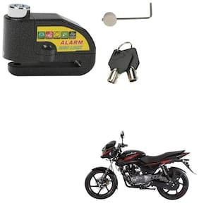 SRPHERE Motorcycle/Bike Brake Disc Security Alarm Lock Padlock, Black For Bajaj Pulsar