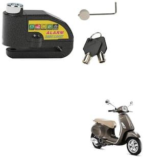 SRPHERE Motorcycle/Bike Brake Disc Security Alarm Lock Padlock, Black For Piaggio Vespa VXL