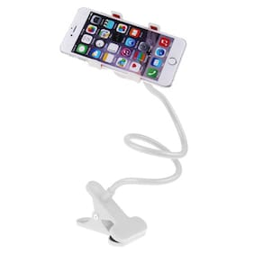 SSE Flexible Long Arms Lazy Bed Desktop Car Mobile Phone Holder Stand For All Cars White(1 Piece)