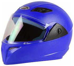 Stallion Blk Vento Plus Full Face Blue Helmet