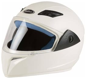 Stallion Blk Vento Plus Full Face White Helmet