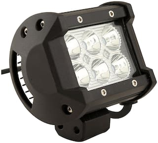 STAR SHINE 6 LED Heavy Duty CREE LED Fog Light/ Work Light Spot Beam Off Road Driving Lamp Universal Fitting for All Bikes and Cars