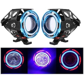 STAR SHINE U11 DOUBLE DRL PROJECTOR LED Fog Light/ Work Light Spot Beam Off Road Driving Lamp Universal Fitting for All Bikes and Cars