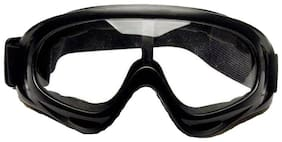 STAR SHINE Protective Black and white lens Rider Goggles (set of 1) For TVS Star City Plus-Set of 1