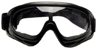STAR SHINE Protective Black and white lens Rider Goggles (set of 1) For TVS Victor GX 100-Set of 1