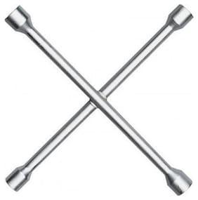 stazon Iron 4 Way Car Wheel Nut Cross Rim Brace Spanner 17 mm, 18 mm, 19 mm, 21 mm Double
